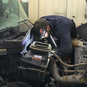 Man working on engine